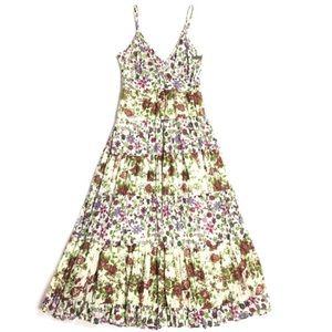 JANE ASHLEY Dress Sun Floral Maxi Prairie Small